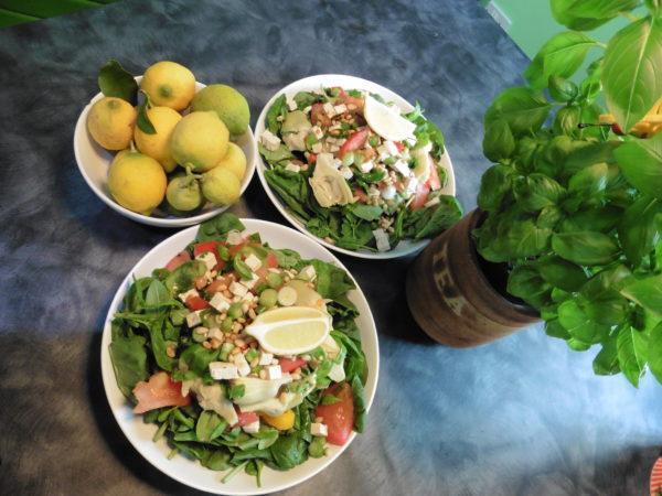 Italian Inspired Skinny Salad With Artichoke Hearts Tofu And Pine